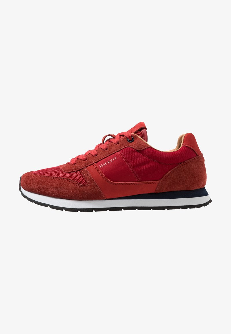 Hackett London - CONTRAST EYELET - Trainers - red