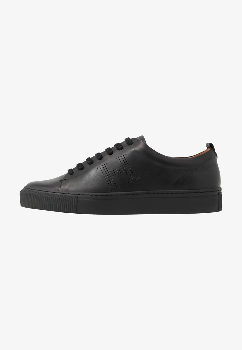 Hackett London - PERFORATED CUPSOLE - Sneakers basse - black