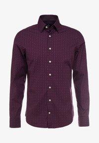 Hackett London - DOT PRINT SLIM FIT - Formal shirt - burgundy - 5