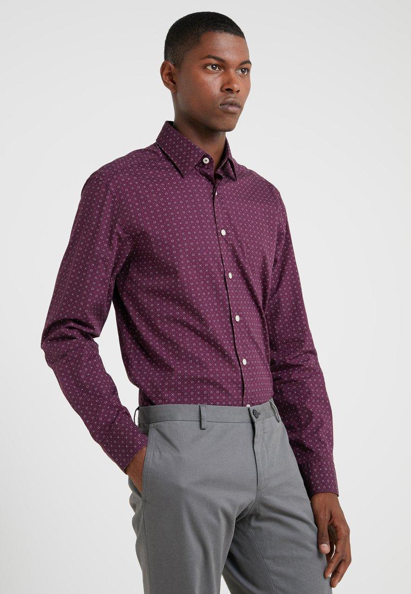 Hackett London - DOT PRINT SLIM FIT - Formal shirt - burgundy