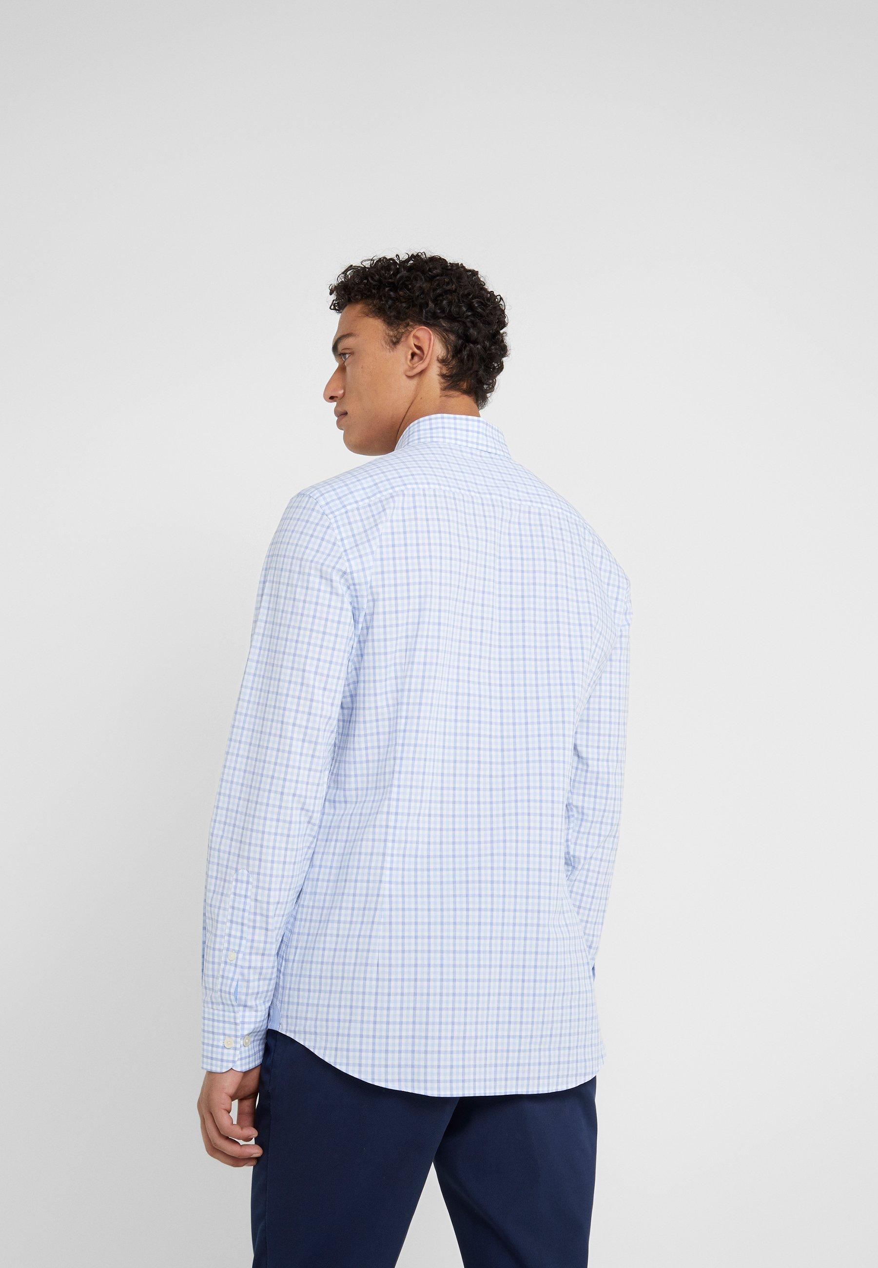 Hackett London PREPPY GINGHAM CHECK SLIM FIT - Skjorte - blue/sky