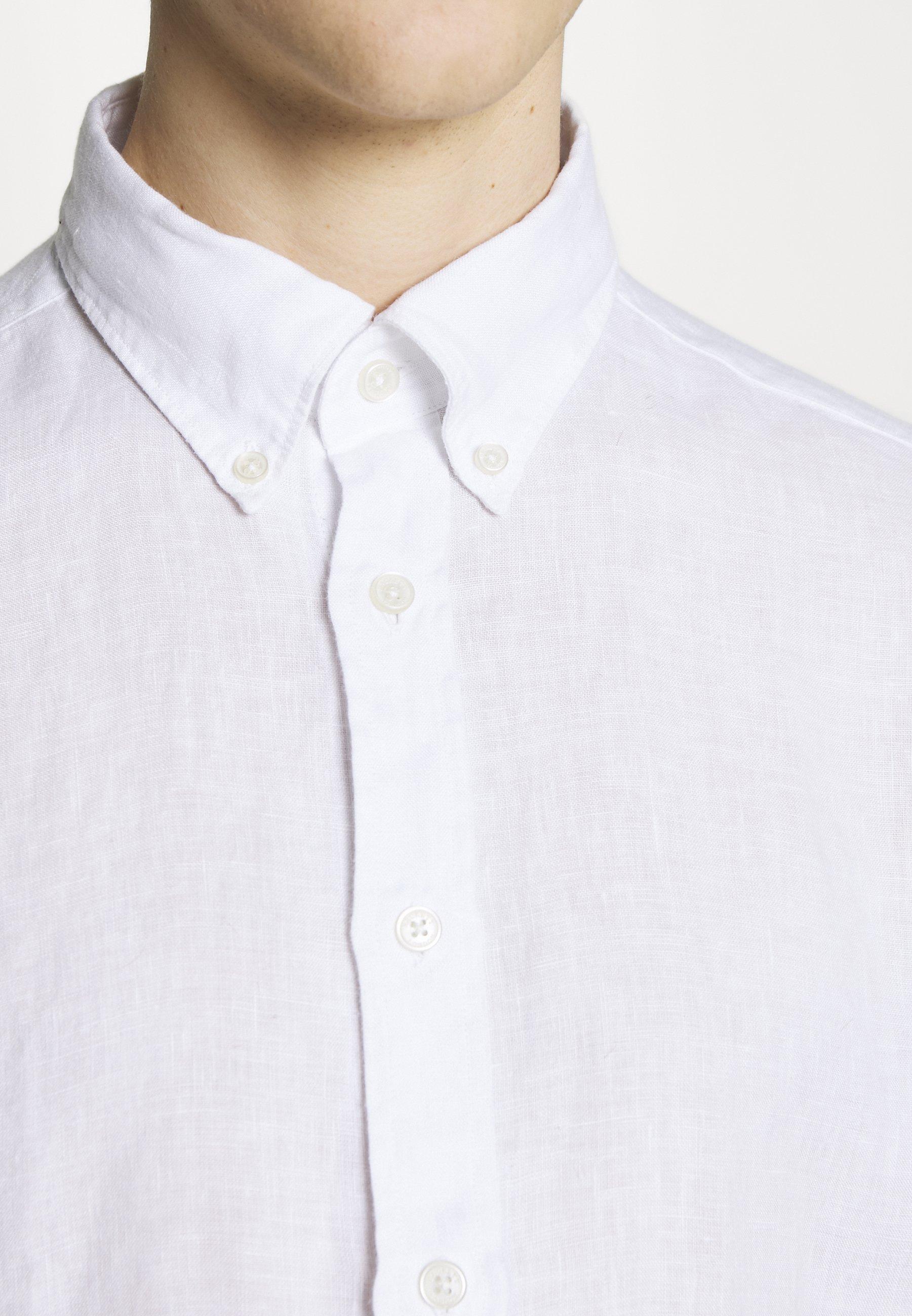 Hackett London Garment Dye Slim Fit - Skjorta Optic White