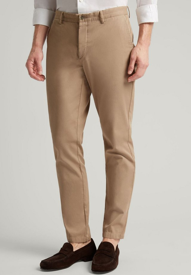 RAISED TWILL - Chinos - oatmeal