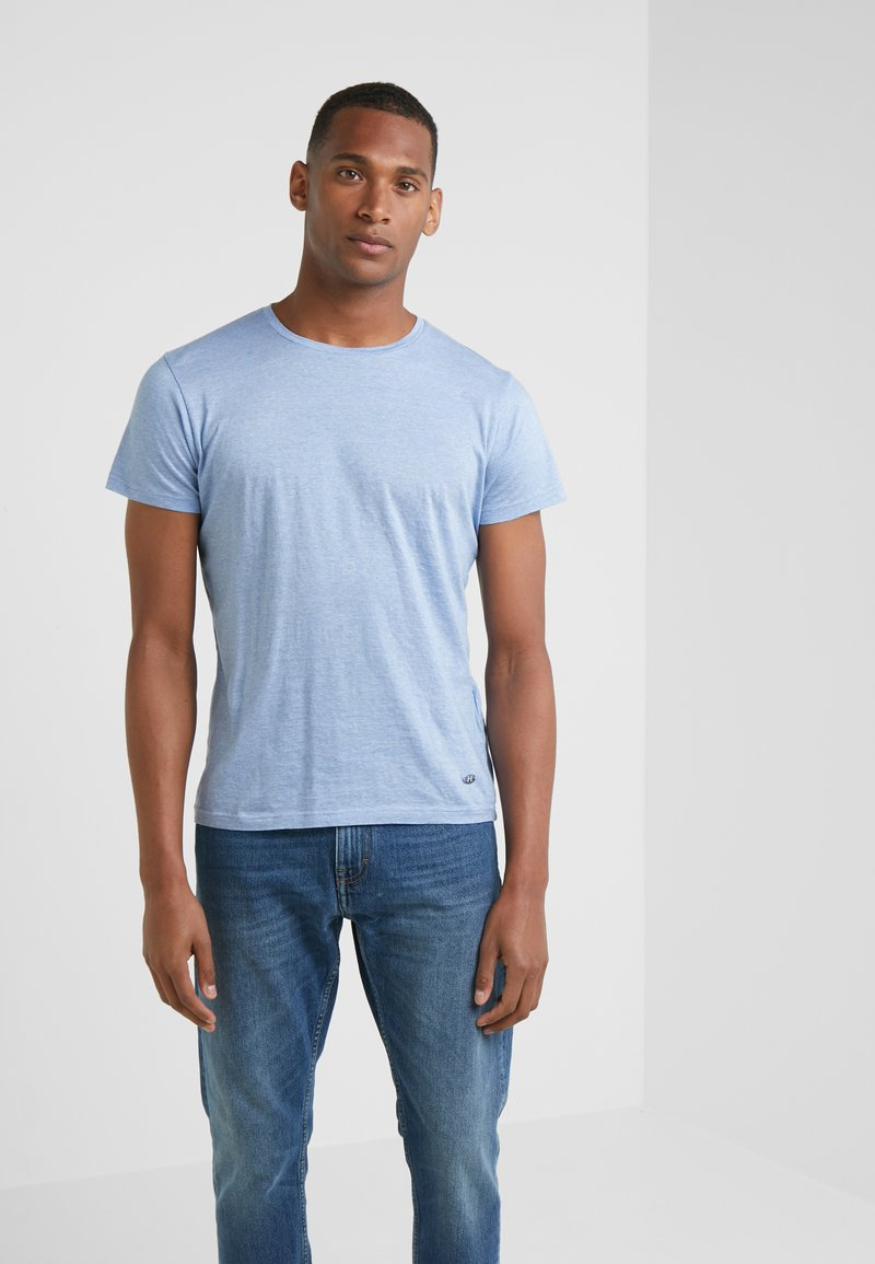 Hackett London - FINE STRIPE TEE - T-Shirt print - sky/white