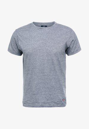 FINE STRIPE TEE - T-Shirt print - navy/white