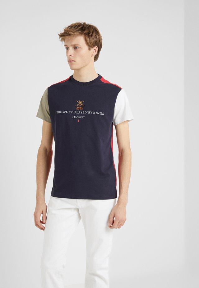 ARMY MULTI TEE - T-shirt imprimé - navy/multi