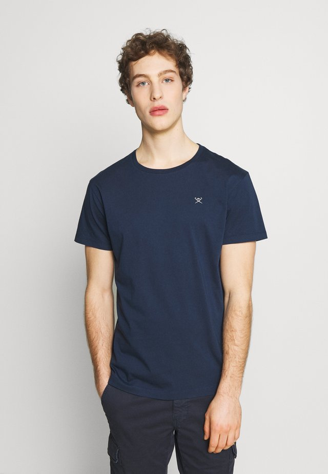LOGO TEE - Basic T-shirt - navy/grey