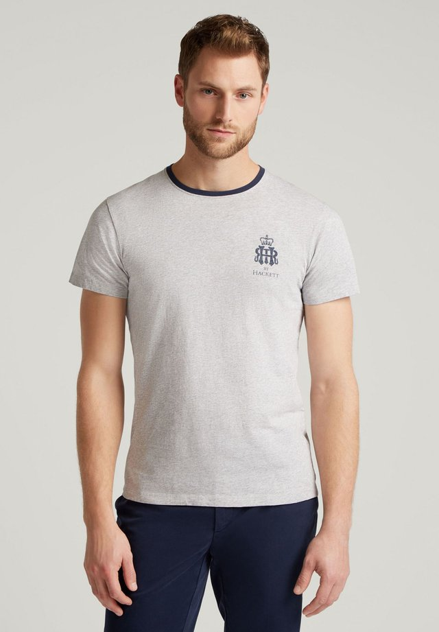 HRR CHEST STR TEE - Basic T-shirt - light grey marl