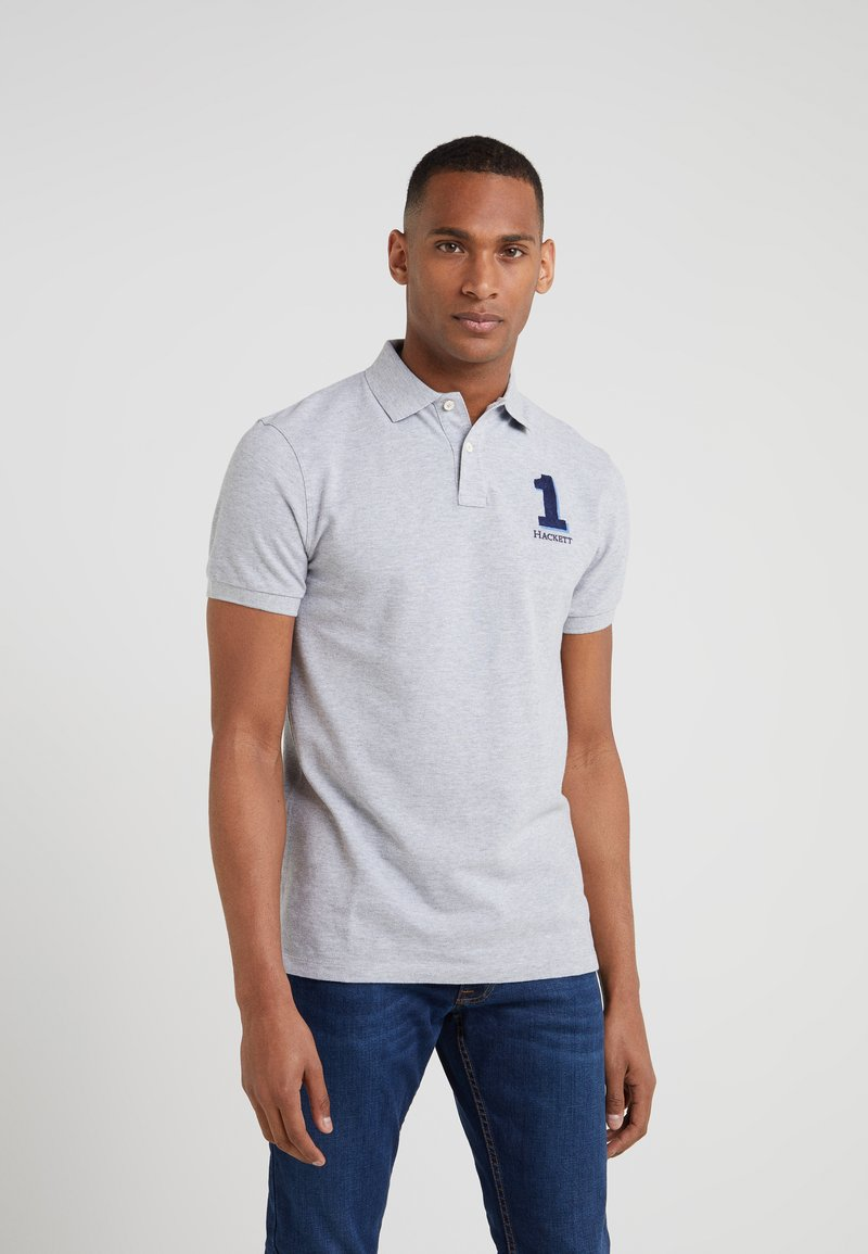 Hackett London - NEW CLASSIC - Poloshirt - mottled light grey