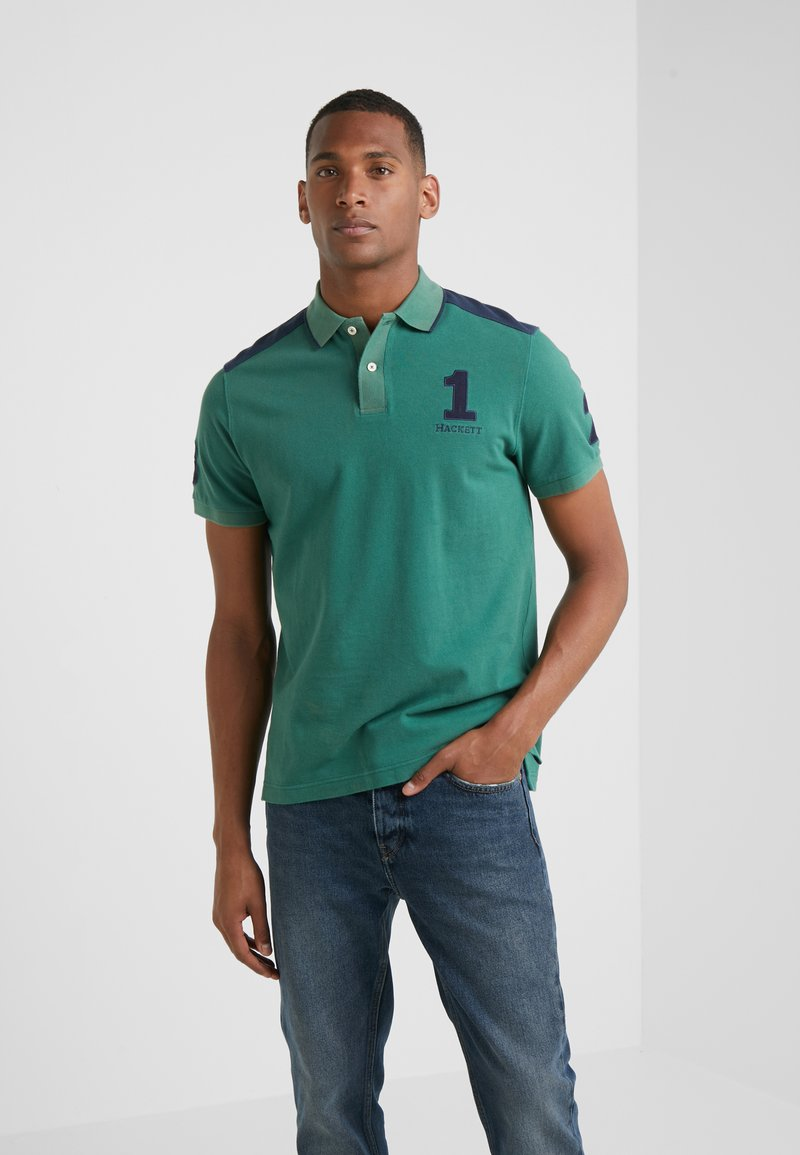 Hackett London - ARCHIVE  - Polo shirt - green/navy