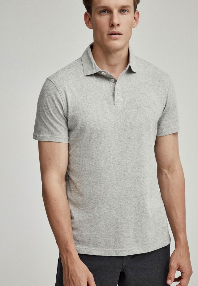 Polo shirt - grey marl