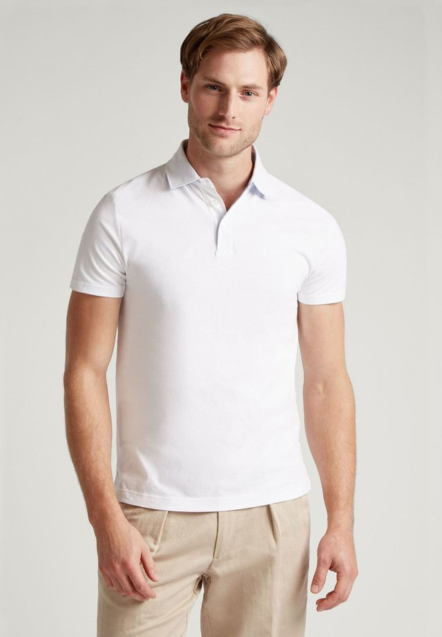 STRIPE SWIM TRIM - Polo shirt - white