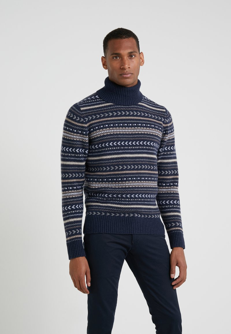 Hackett London - FAIRISLE ROLL NECK - Trui - multi/blue