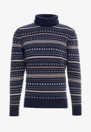 FAIRISLE ROLL NECK - Jersey de punto - multi/blue