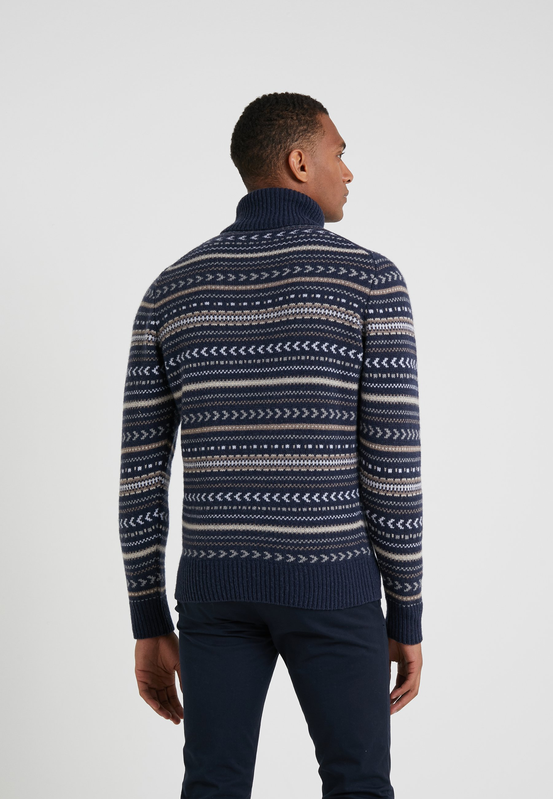 NeckPullover blue Roll Hackett London Fairisle Multi hQtsrdCx