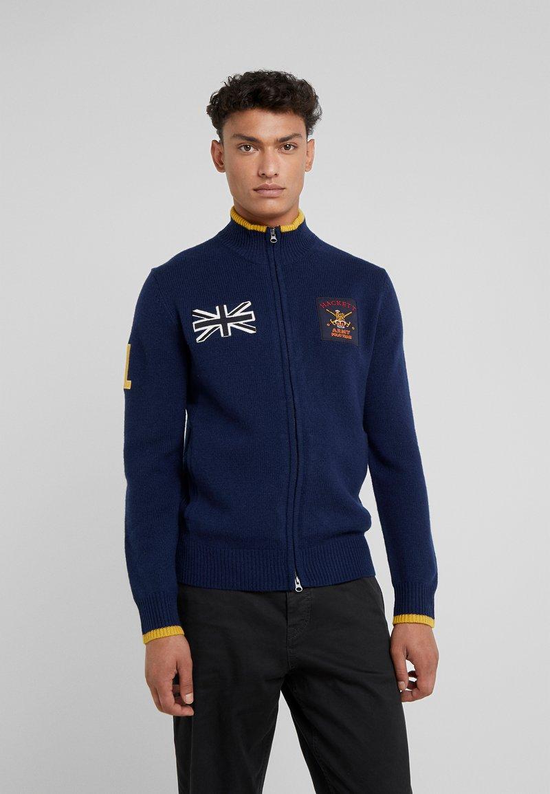 Hackett London - ARMY POLO - Strikjakke /Cardigans - navy