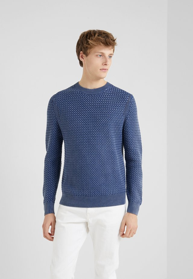 WEAVE STITCH CREW - Pullover - denim