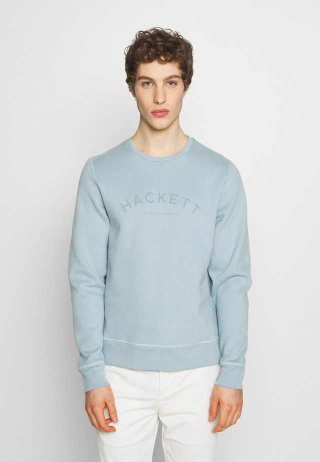LOGO CREW - Sweater - grey blue