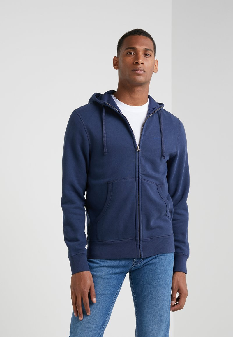 Hackett London - HOODY - Bluza rozpinana - navy