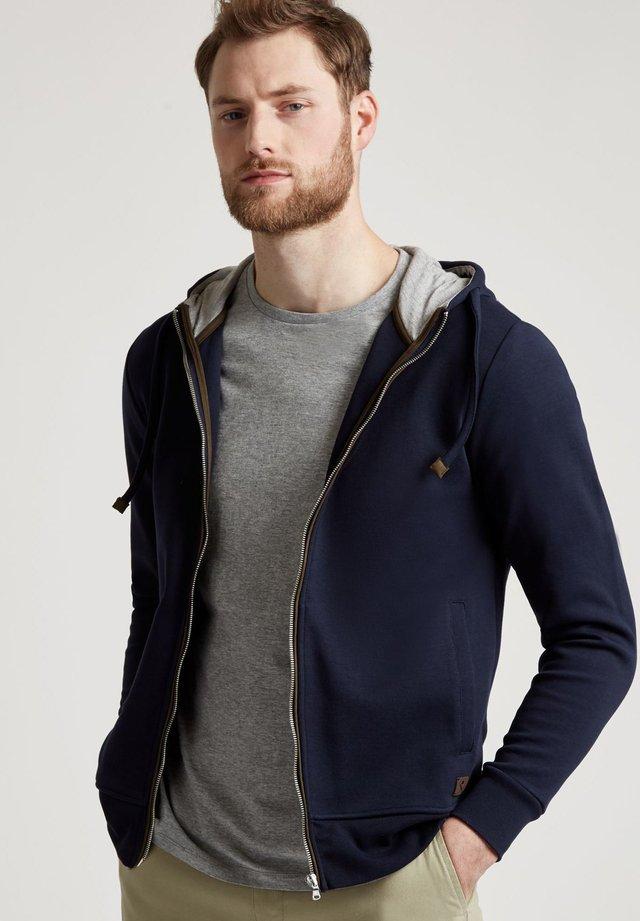 ELEVATED - Zip-up hoodie - navy