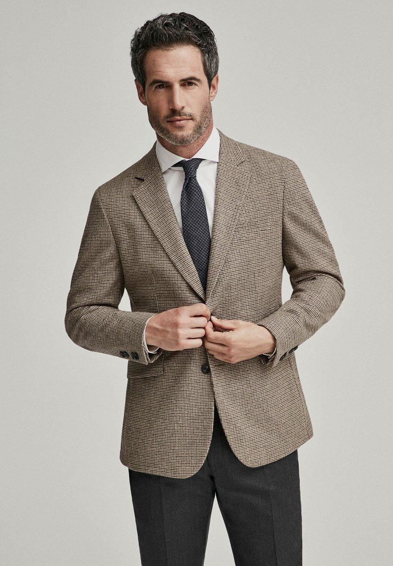 Hackett London - PUPPYTOOTH - Blazer jacket - multi brown