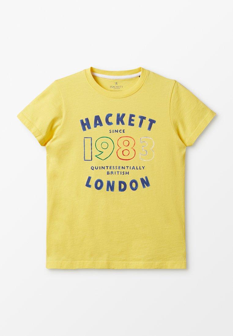 Hackett London - T-shirt con stampa - yellow