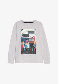 Hackett London - TRAIN  - Top sdlouhým rukávem - mottled light grey - 2
