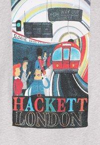 Hackett London - TRAIN  - Top sdlouhým rukávem - mottled light grey - 3