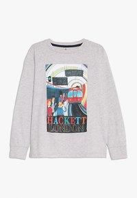 Hackett London - TRAIN  - Top sdlouhým rukávem - mottled light grey - 0