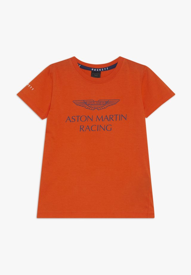 ASTON MARTIN RACING WINGS - Triko s potiskem - orange