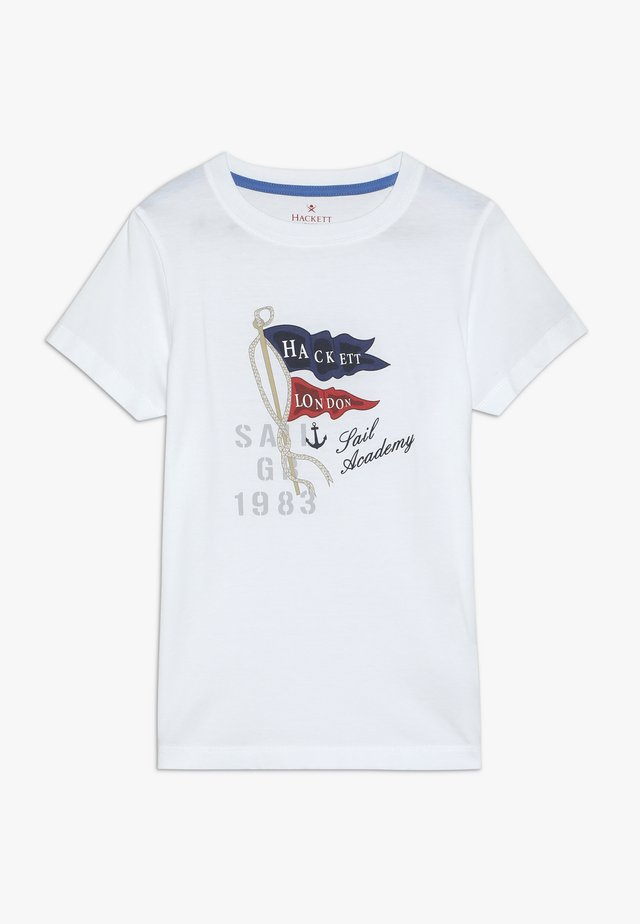SAIL FLAG TEE - T-shirts print - white