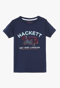 Hackett London - CAR LOGO - Triko s potiskem - navy - 0