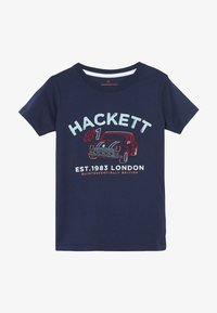 Hackett London - CAR LOGO - Triko s potiskem - navy - 2