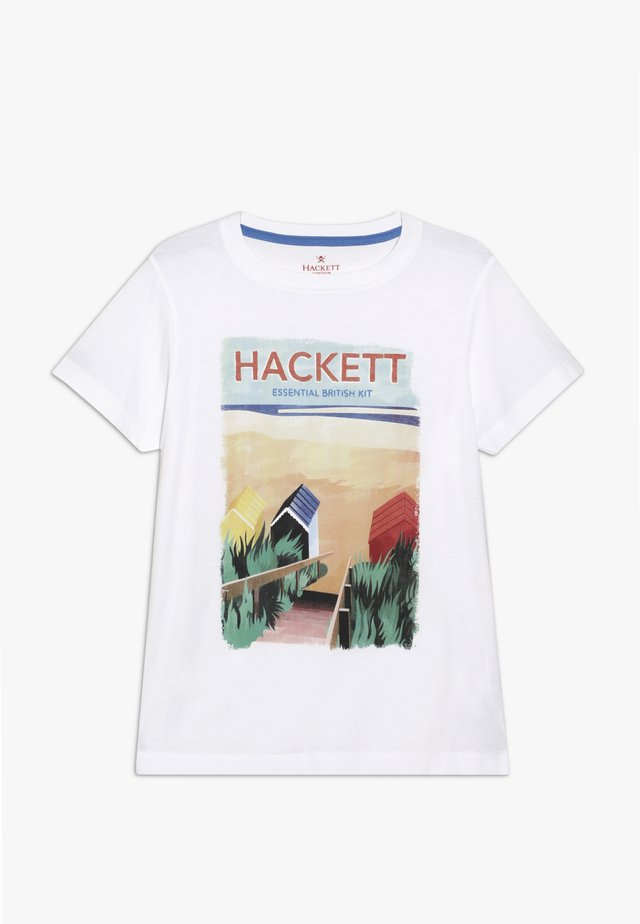 BEACH POSTER - Print T-shirt - white