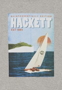 Hackett London - SAIL POSTER - Triko s potiskem - grey marl