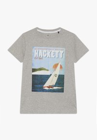 Hackett London - SAIL POSTER - Triko s potiskem - grey marl - 0