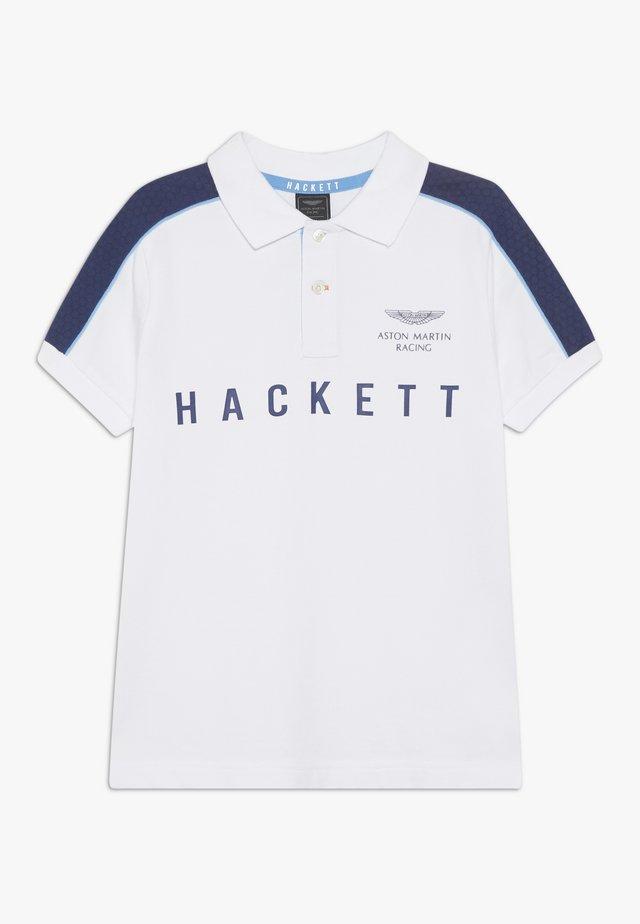 ASTON MARTIN RACING PANEL - Poloshirt - white