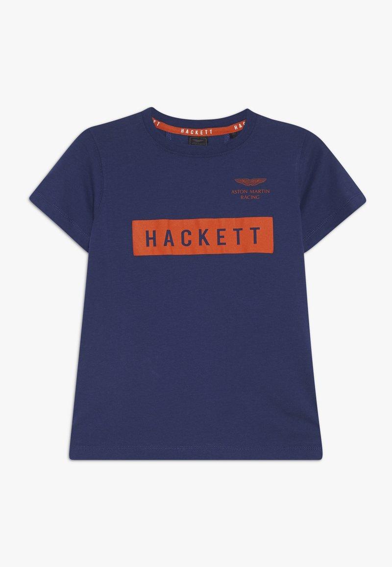 Hackett London - ASTON MARTIN RACING LOGO - Triko spotiskem - dark blue