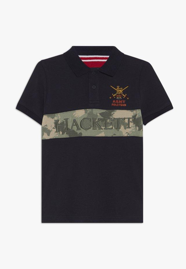 ARMY CAMO PANEL - Polo shirt - navy/green