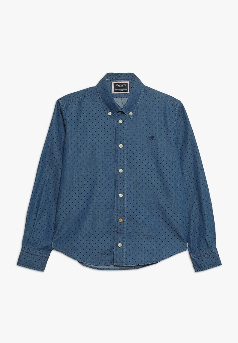Hackett London - POLKA DOT - Vapaa-ajan kauluspaita - blue denim