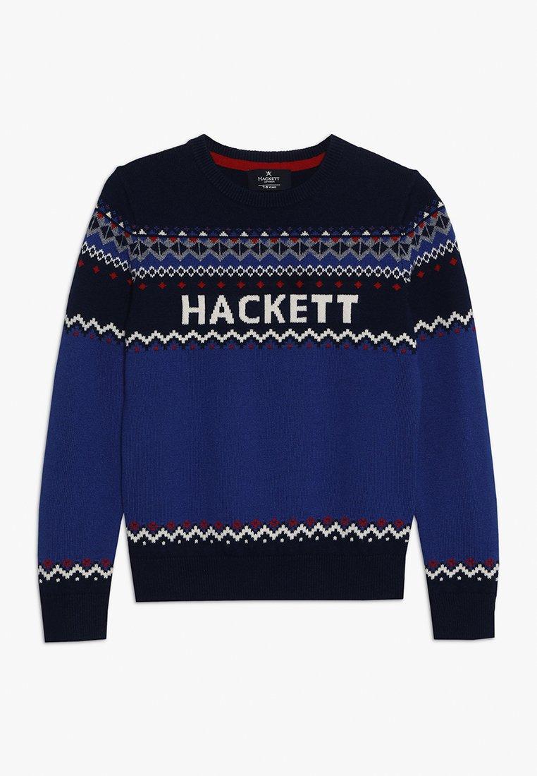 Hackett London - LOGO FISLE - Jumper - dark blue