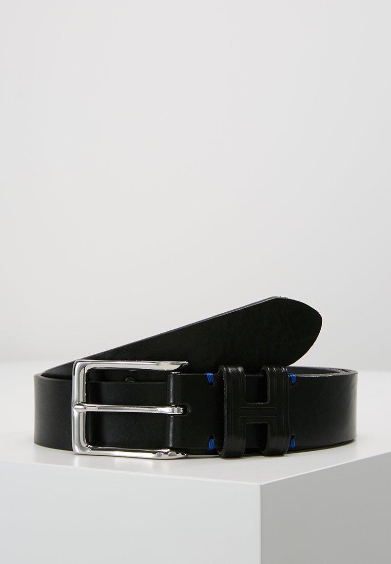 Hackett London - TACK STITCH KEEPER - Pásek - black
