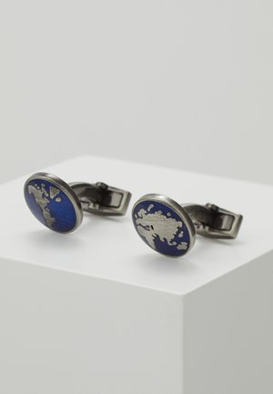 Manžetové knoflíčky - navy/silver-coloured