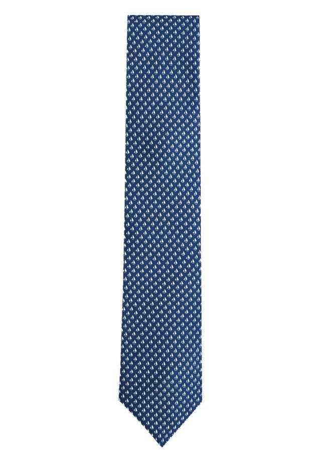 SAILBOAT - Tie - navy