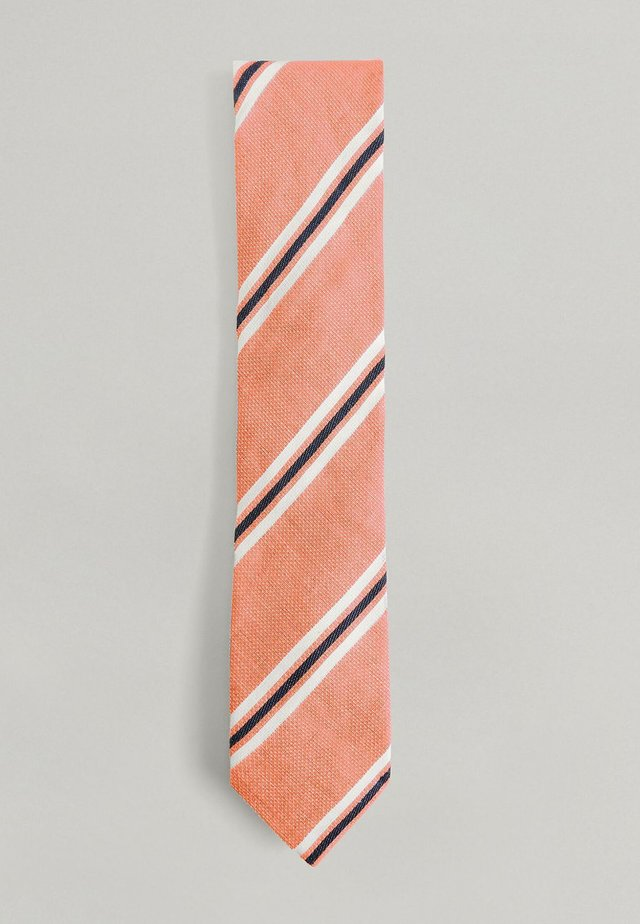 NOVELTY STRIPE  - Tie - orange