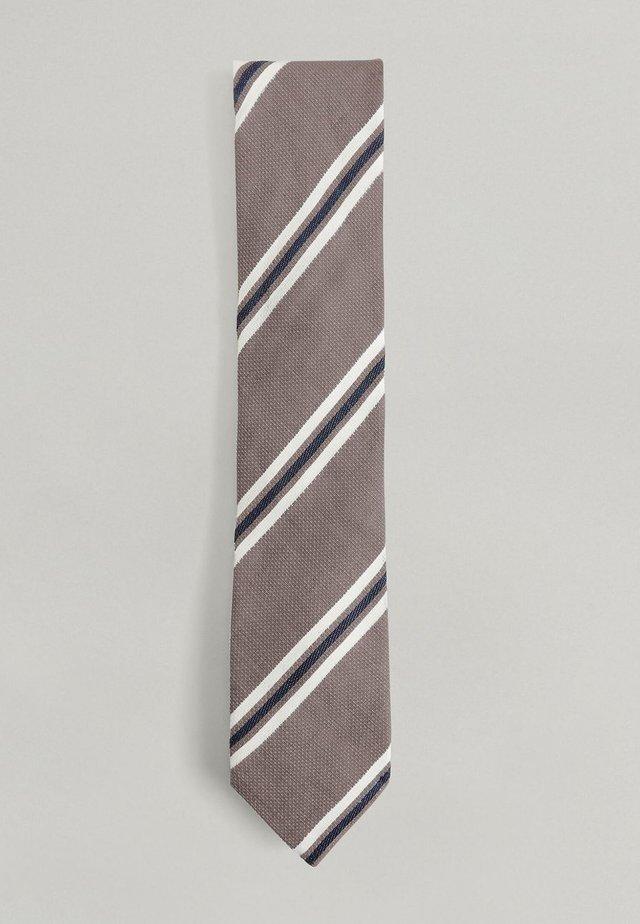 NOVELTY STRIPE  - Tie - brown