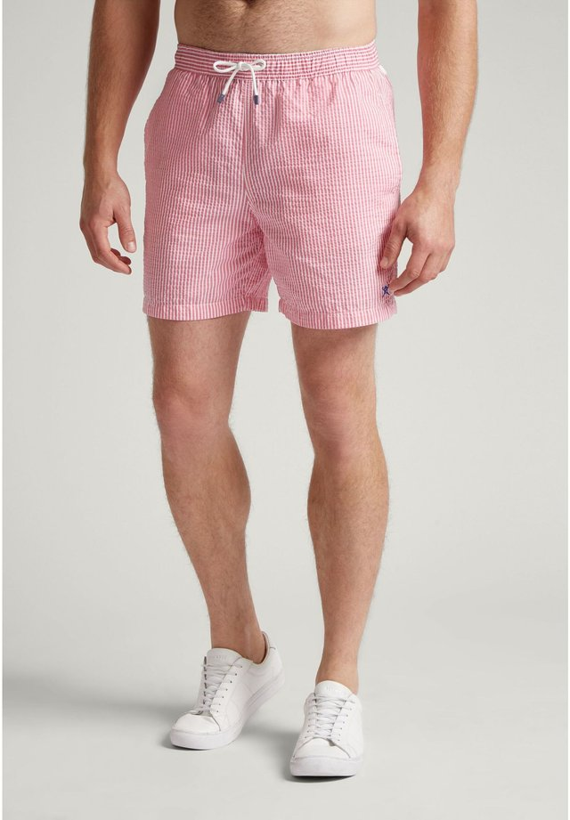 BOLD STRIPE - Swimming shorts - rose