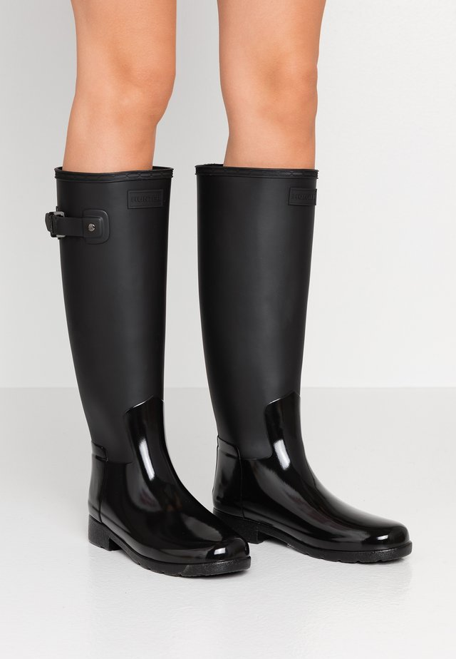 WOMENS REFINED TALL GLOSS DUO - Wellies - black