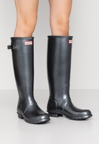Hunter ORIGINAL - WOMENS ORIGINAL TALL - Wellies - black - 0