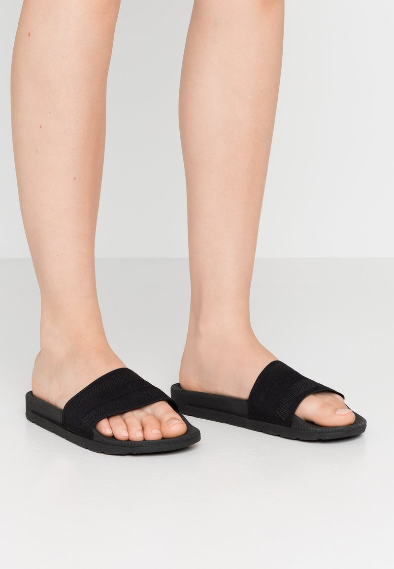 Hunter ORIGINAL - WOMENS ORIGINAL ELASTIC SLIDE - Mules - black